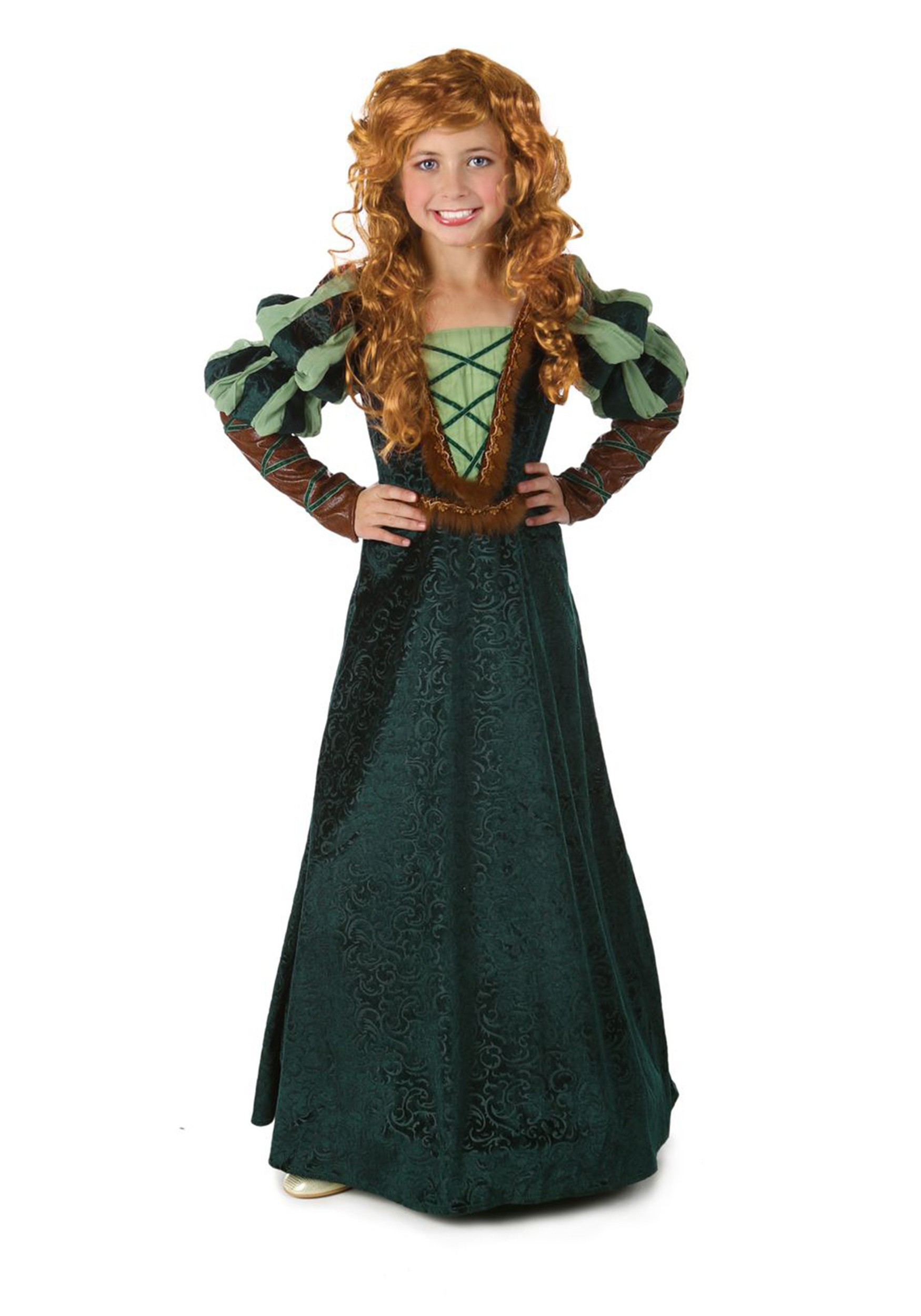 Child Courageous Princess Costume  sc 1 st  Halloween Costume & Child Courageous Princess Costume - Renaissance Forest Royal Costume