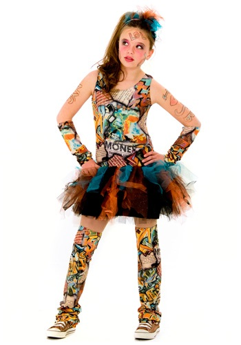 Tween Graffiti Girl Costume