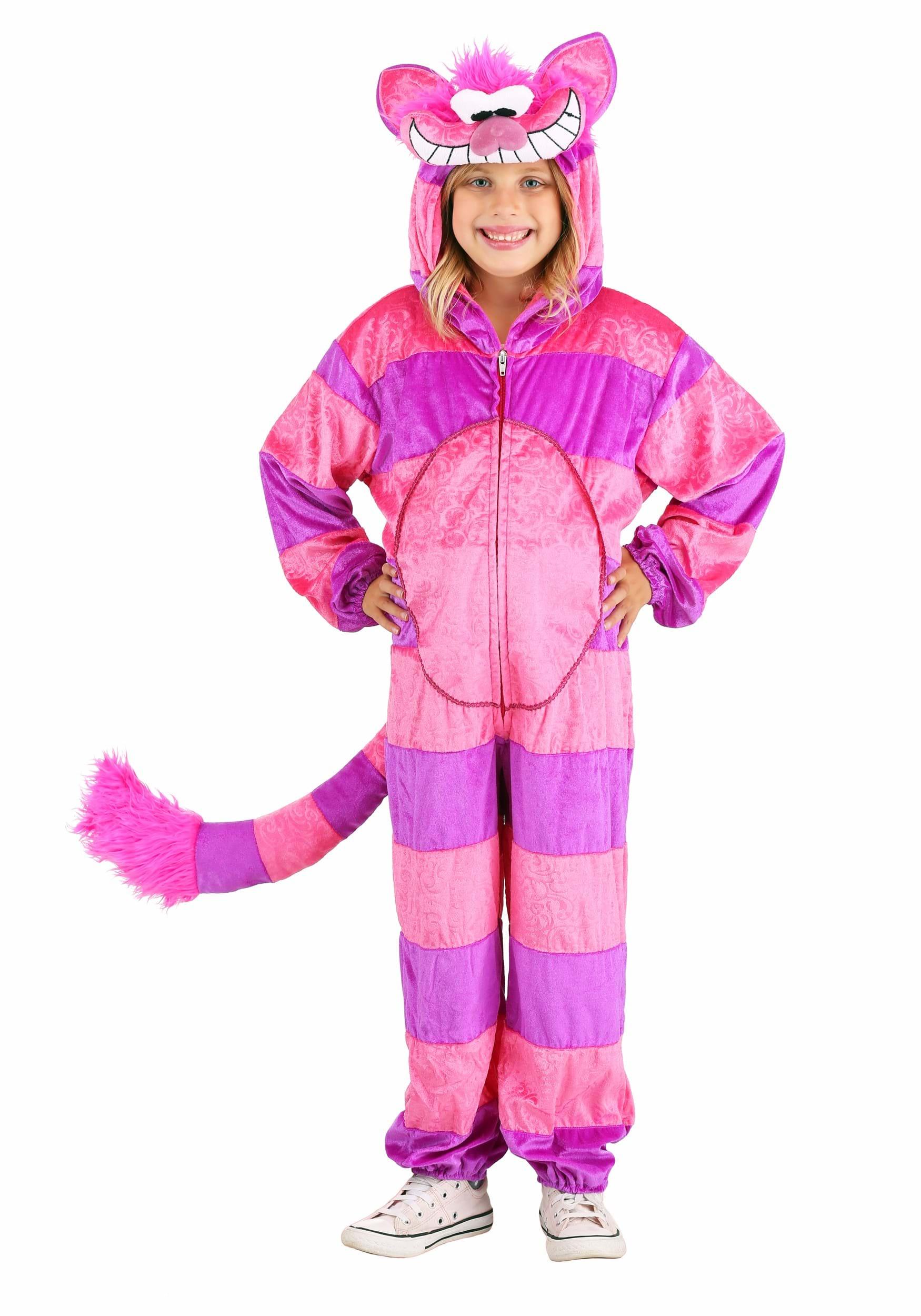 Child Storybook Cheshire Cat Jumpsuit  sc 1 st  Halloween Costume & Child Storybook Cheshire Cat Jumpsuit - Alice in Wonderland Costumes