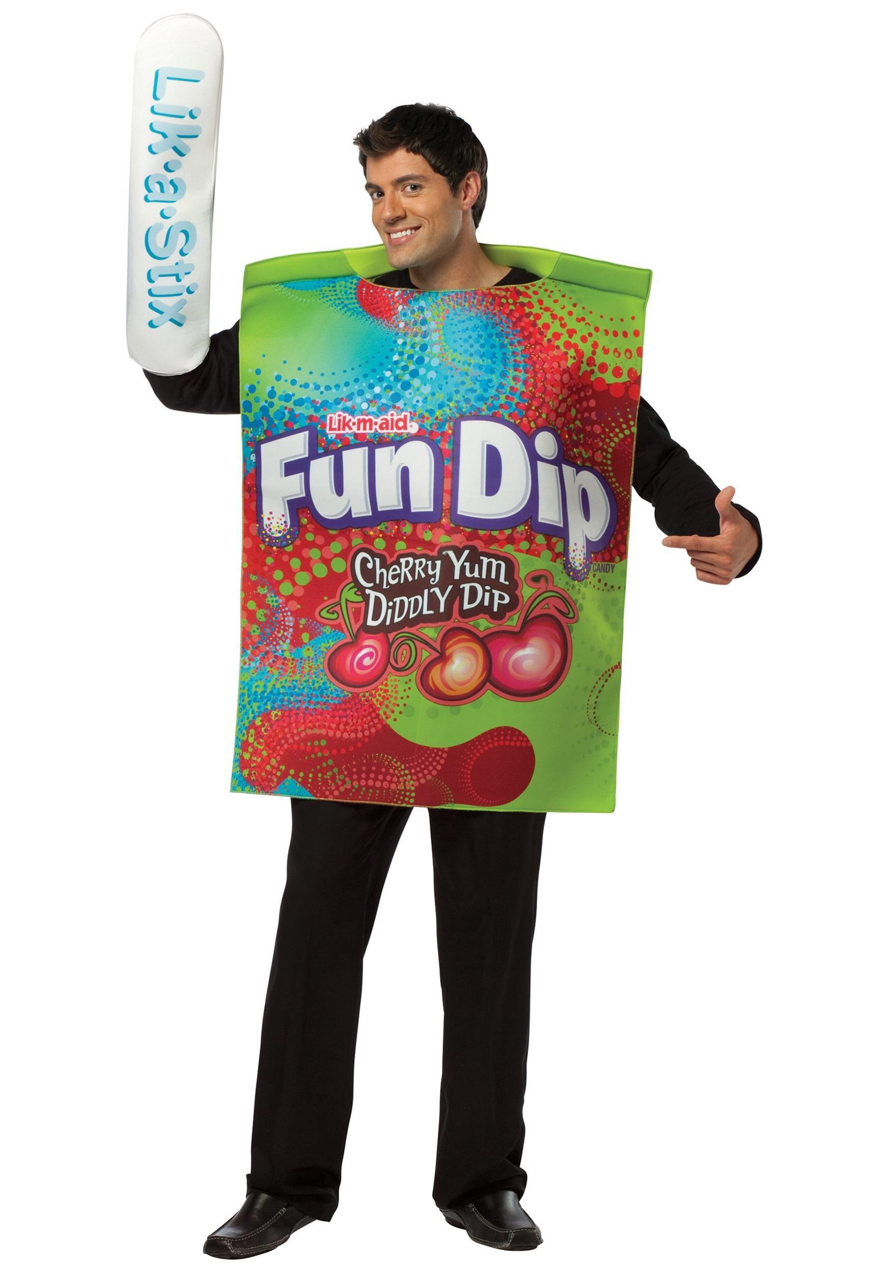 Mens Fun Dip Costume  sc 1 st  Halloween Costume & Mens Fun Dip Costume - Funny Willy Wonka Candy Costumes