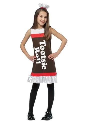 Girls Candy Tootsie Roll Dress