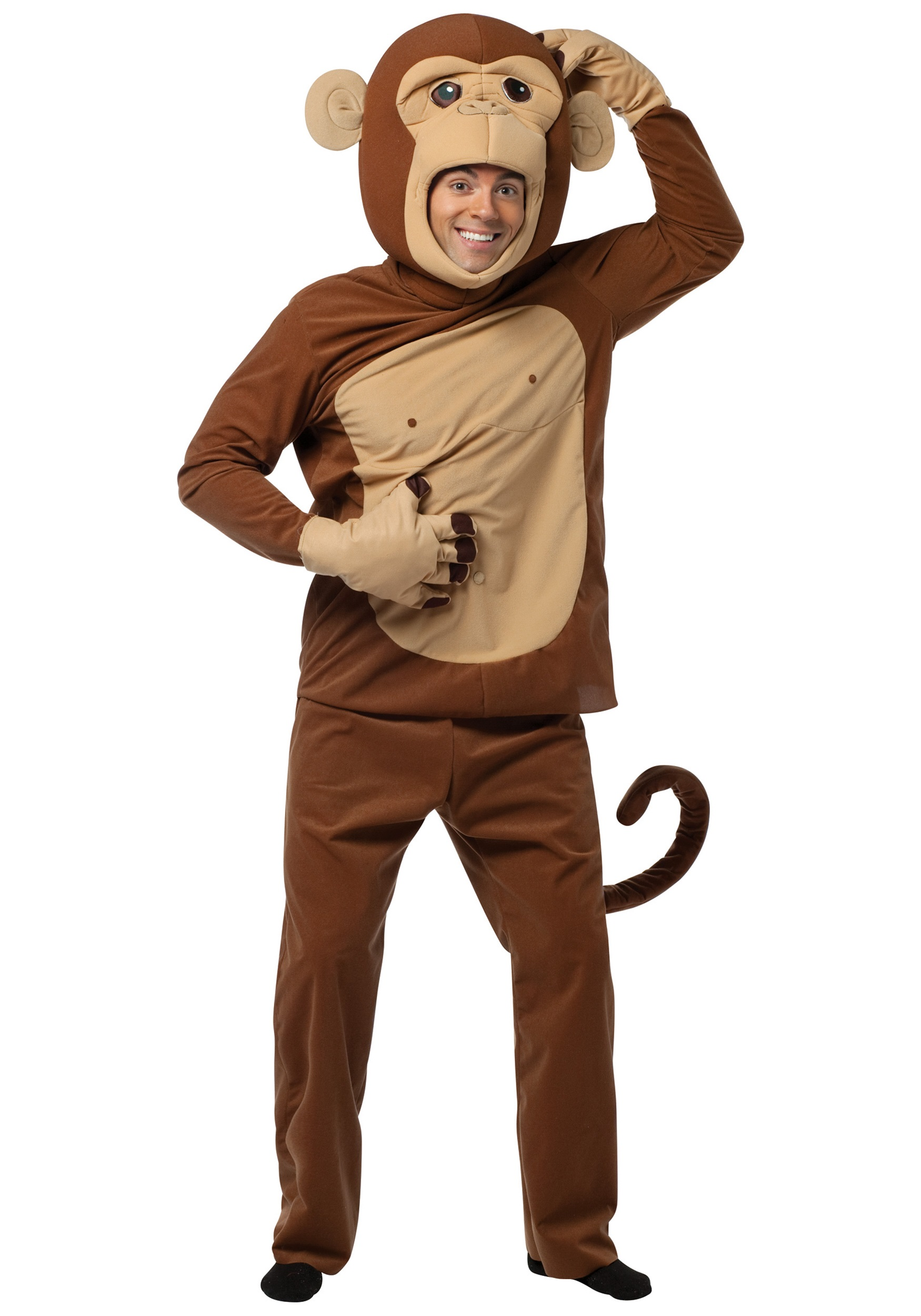 Adult Funky Chimp Costume  sc 1 st  Halloween Costume & Adult Funky Chimp Costume - Silly Animal Costume Ideas for Adults