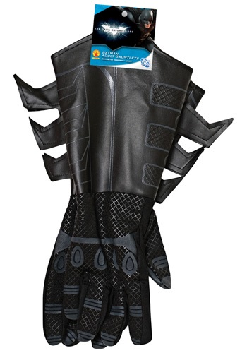 Adult Batman Rises Gauntlets