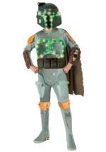 Kids Deluxe Boba Fett Light Up Costume