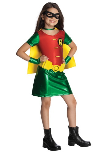 Girls Comic Book Titans Robin Costume