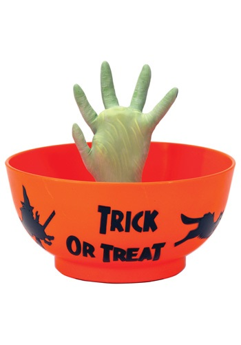 Animated Zombie Hand in Bowl