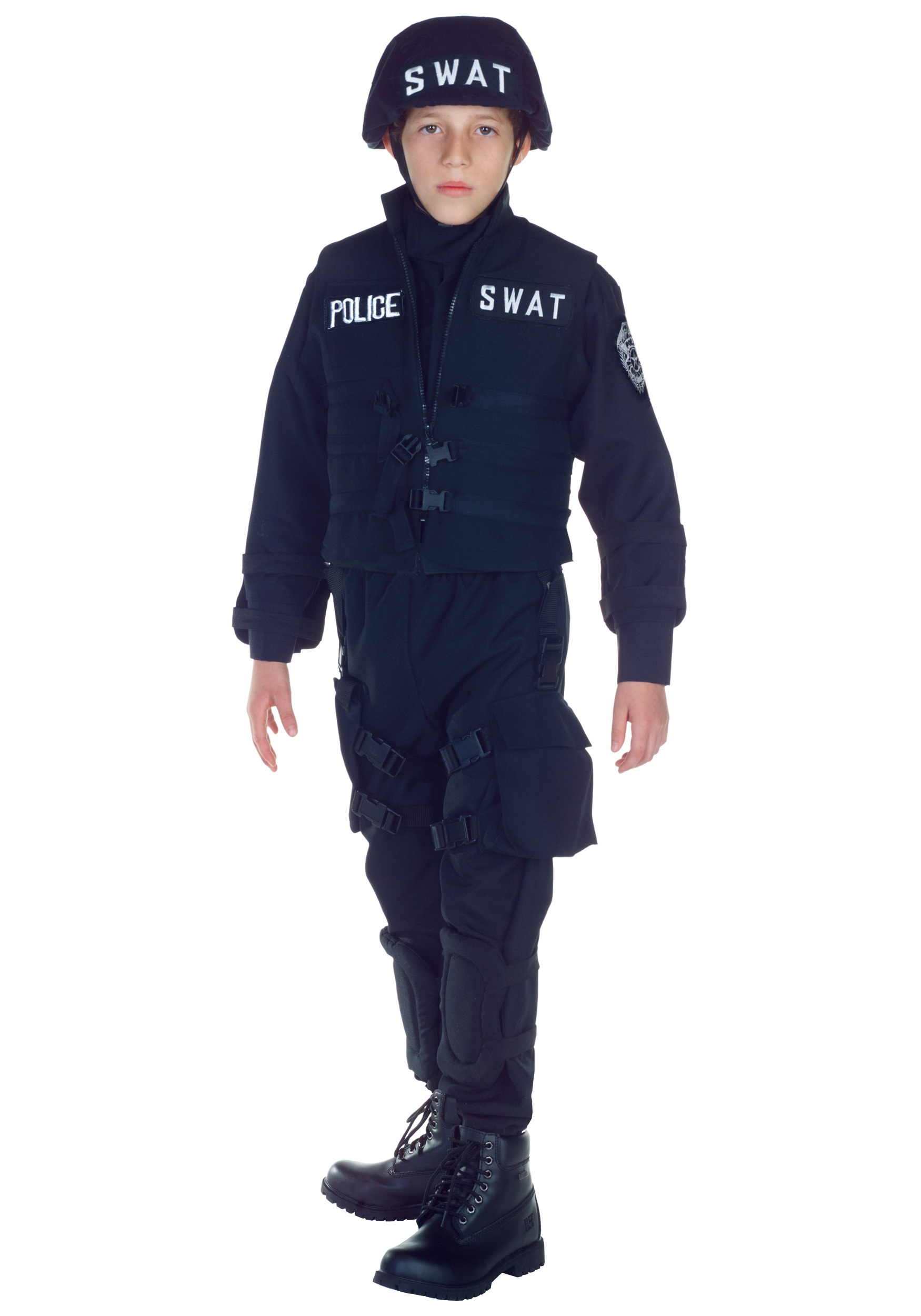 Kids Swat Official Costume Boys Police Officer Uniform