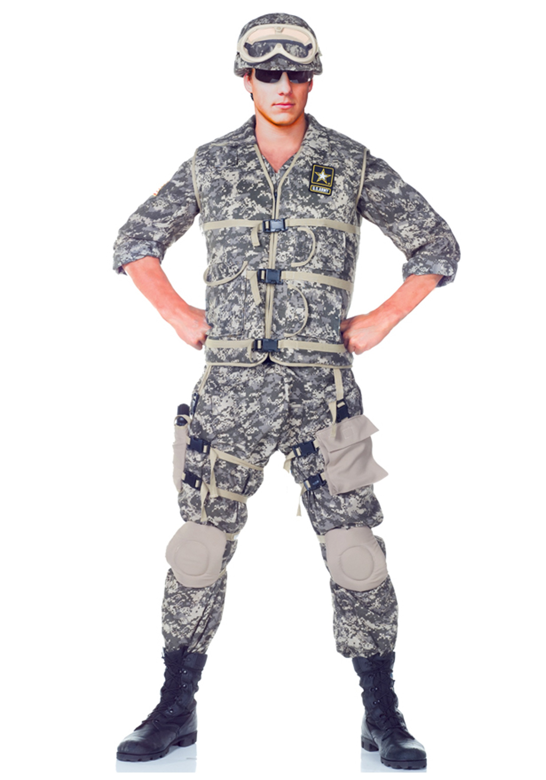 Teen Army Ranger Deluxe Costume Teen Army Uniform Costumes