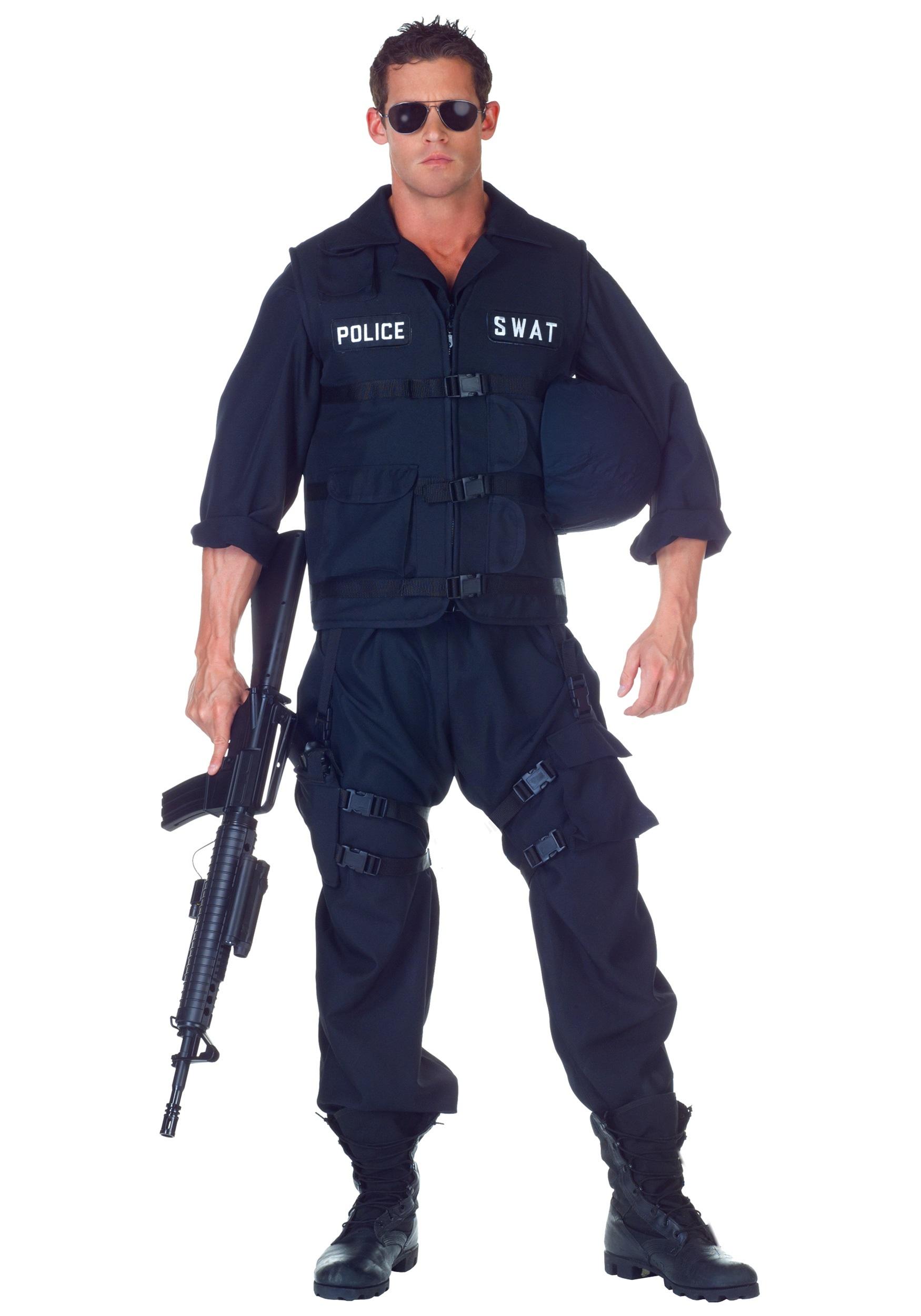 SWAT Officer Jumpsuit Costume  sc 1 st  Halloween Costume & SWAT Officer Jumpsuit Costume - Adult Police Officer Uniform Costume