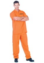 Plus Locked Up Inmate Costume