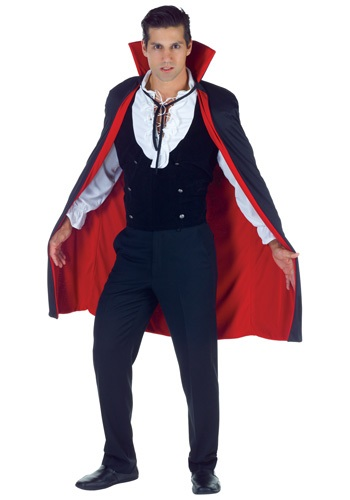 Black and Red High Vamp Cape