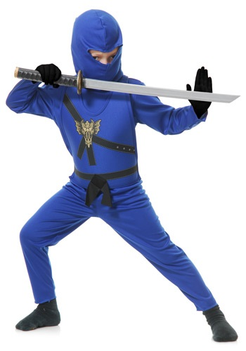 Boys Blue Ninja Fighter Costume