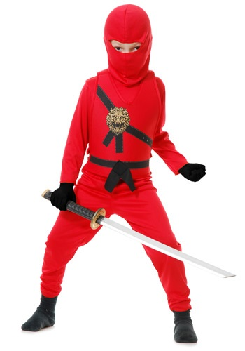 Child Red Karate Master Costume