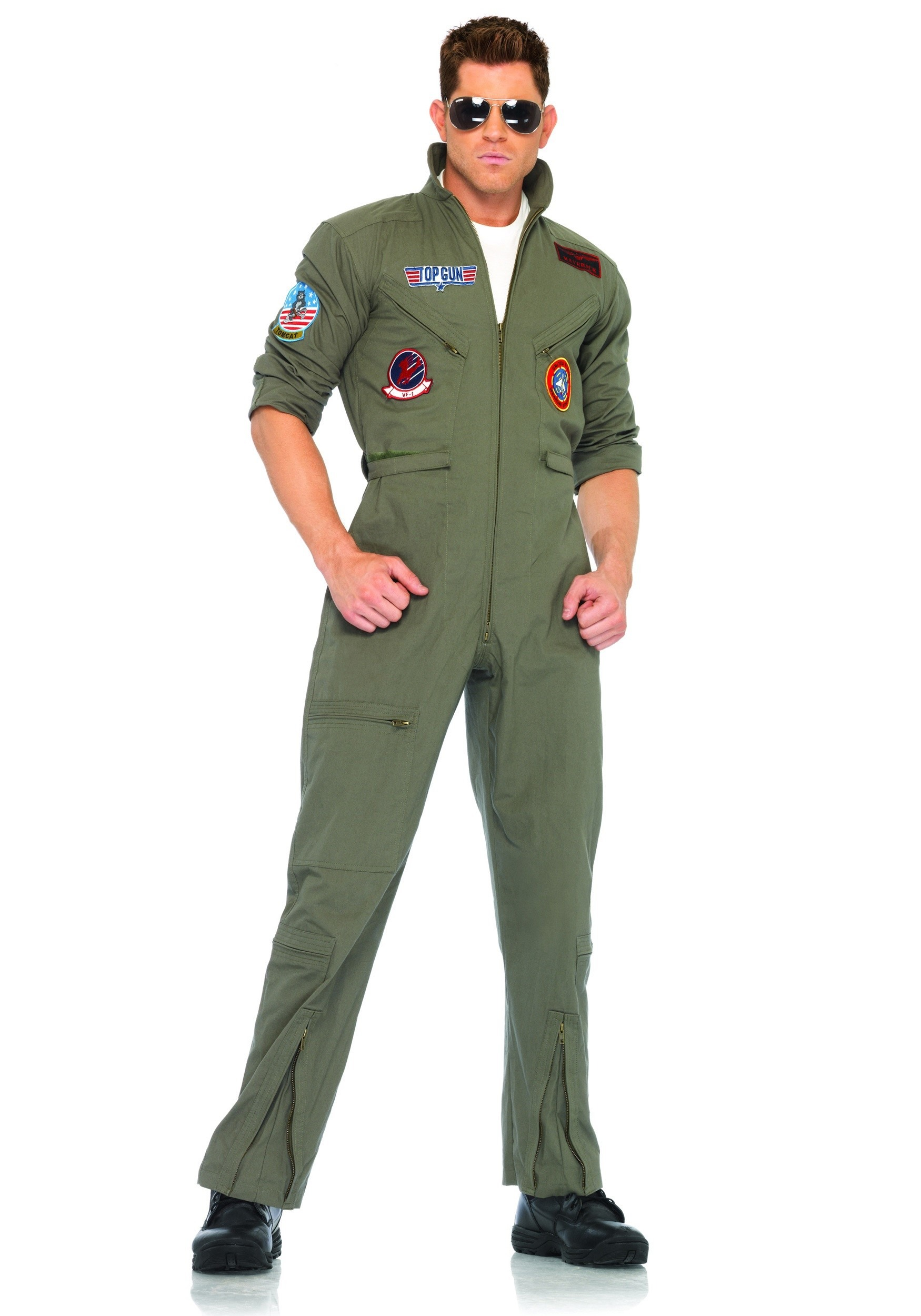 Mens Plus Top Gun Jumpsuit  Plus Size Movie Character Costume Ideas