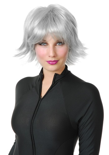 Silver Thunder Superhero Wig