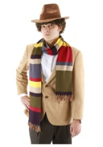 Fourth Doctor Who Multi Colored Short Scarf