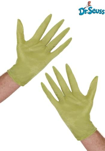 Furry Adult Grinch Gloves