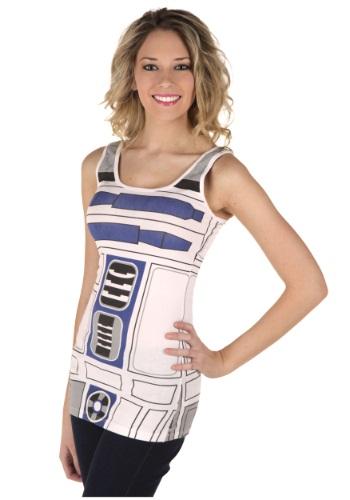 Ladies R2-D2 Costume Tank Top