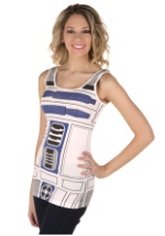 Ladies R2-D2 Costume Tank Top