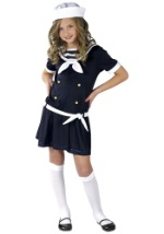 Girls Navy Sailor Sweetie Costume
