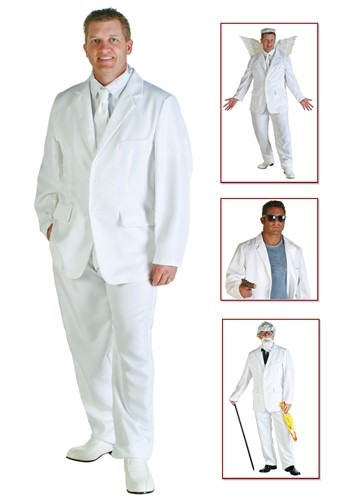 Plus Pristine White Suit Costume