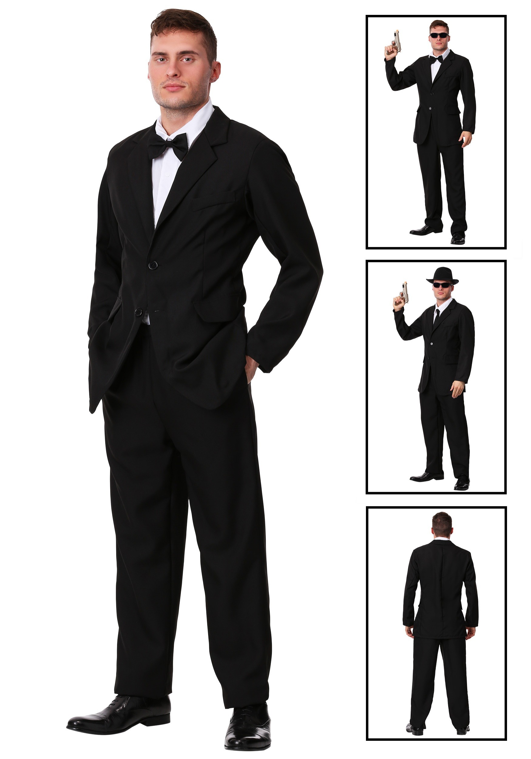 Plus 007 Black Suit Costume