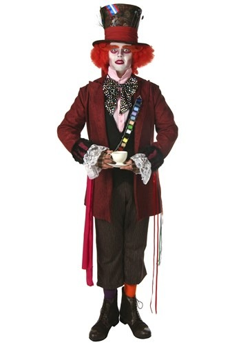 Plus Authentic Wacky Mad Hatter Costume