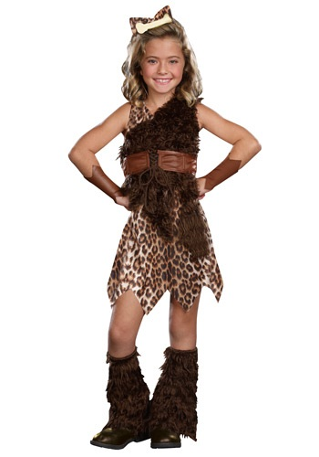 Girls Prehistoric Cave Girl Cutie Costume