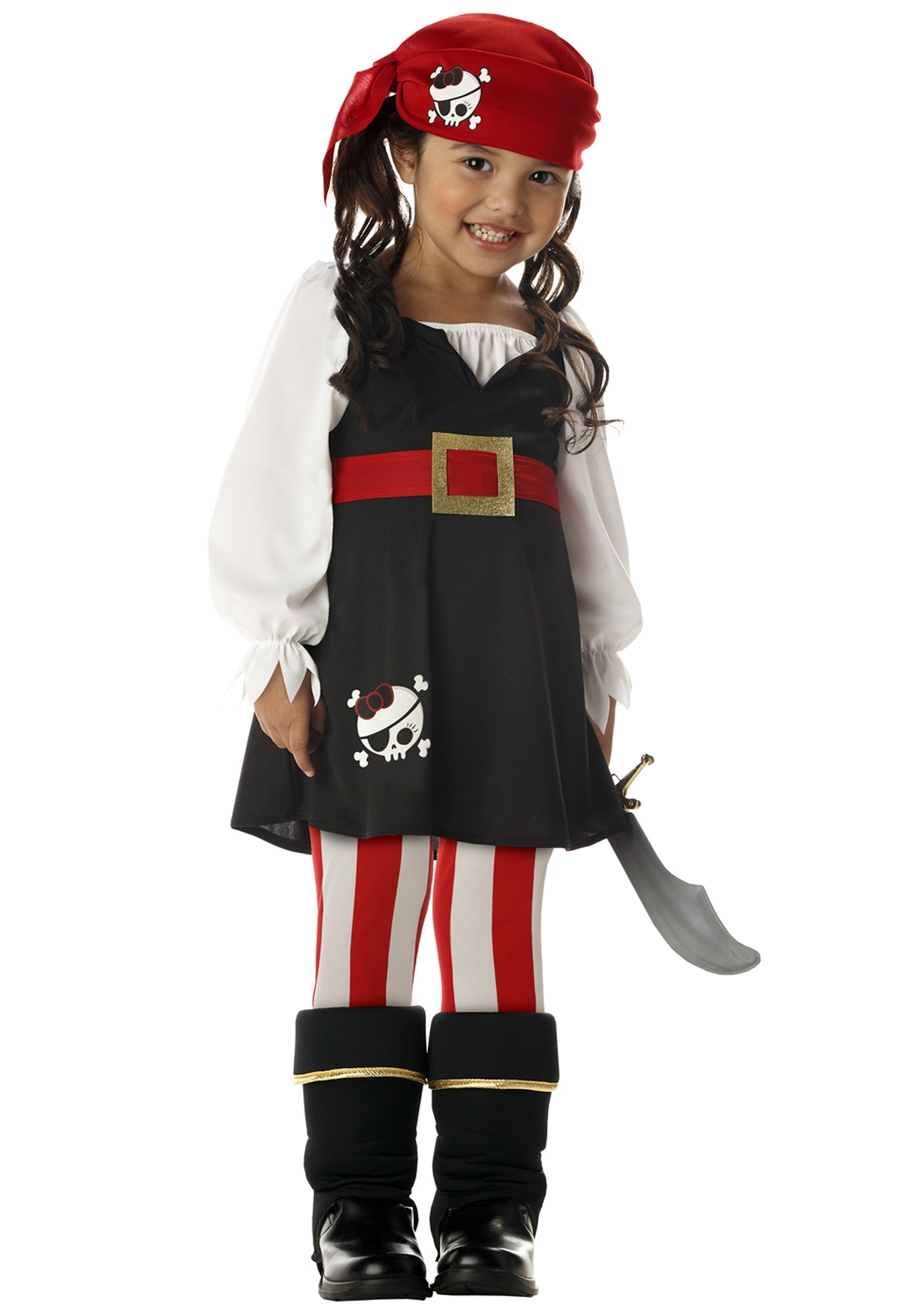 Girls Toddler Buccaneer Costume - Pirate Costumes for Kids