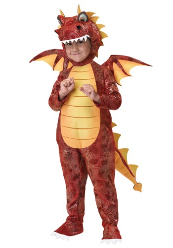 Toddler Medieval Fire Dragon Costume