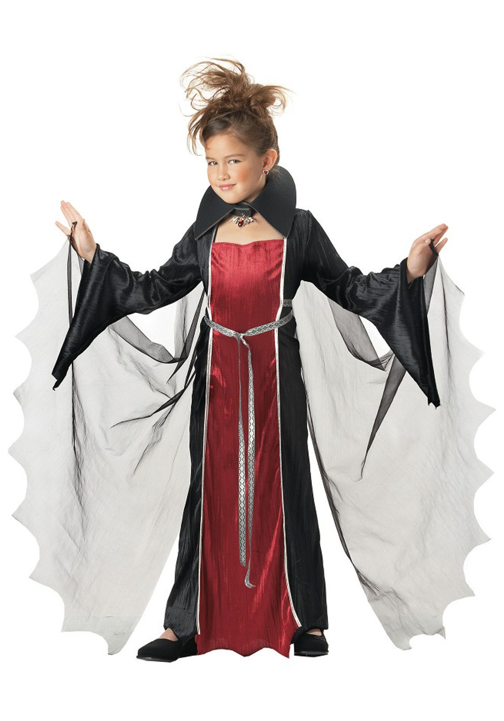 Girl V&ire Costume  sc 1 st  Halloween Costume & Girl Vampire Costume - Girls Vampire Halloween Costumes