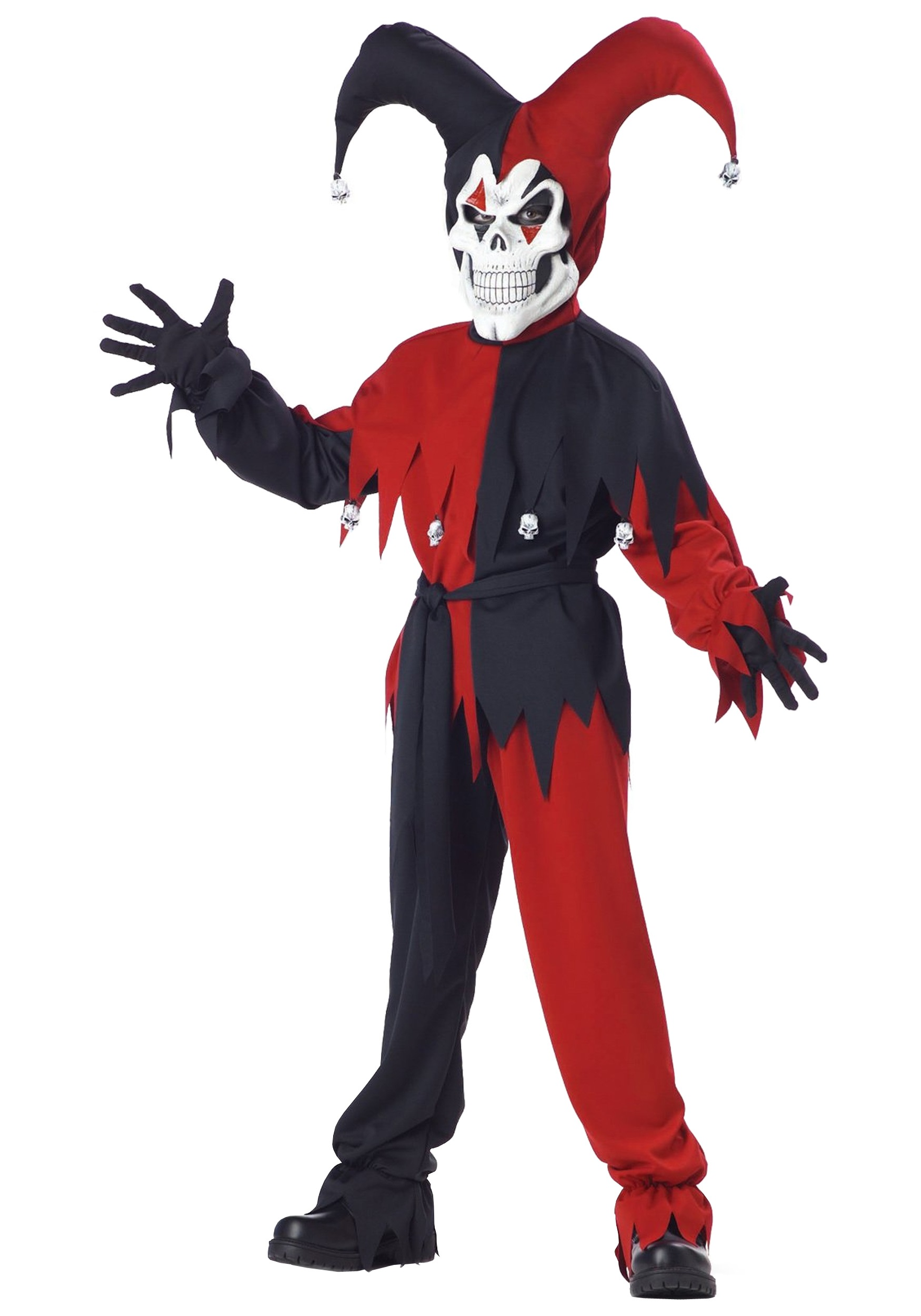 childs evil jester costume