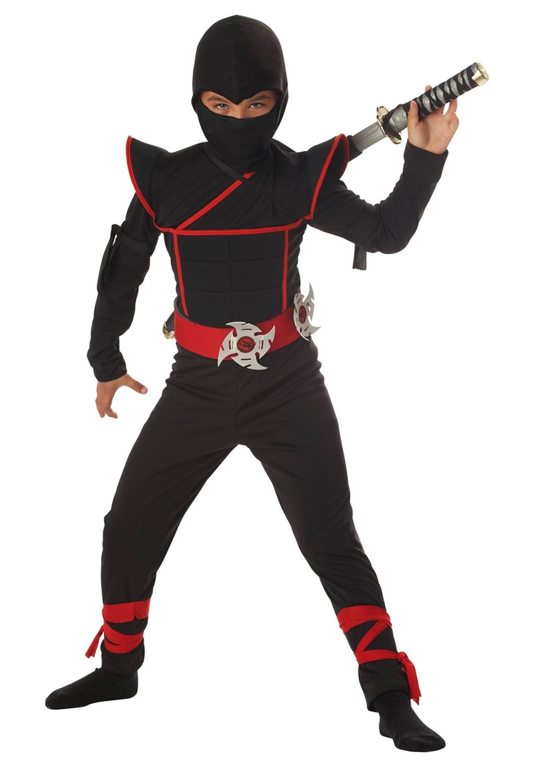 kids ninja fighter costume - boys ninja halloween costumes