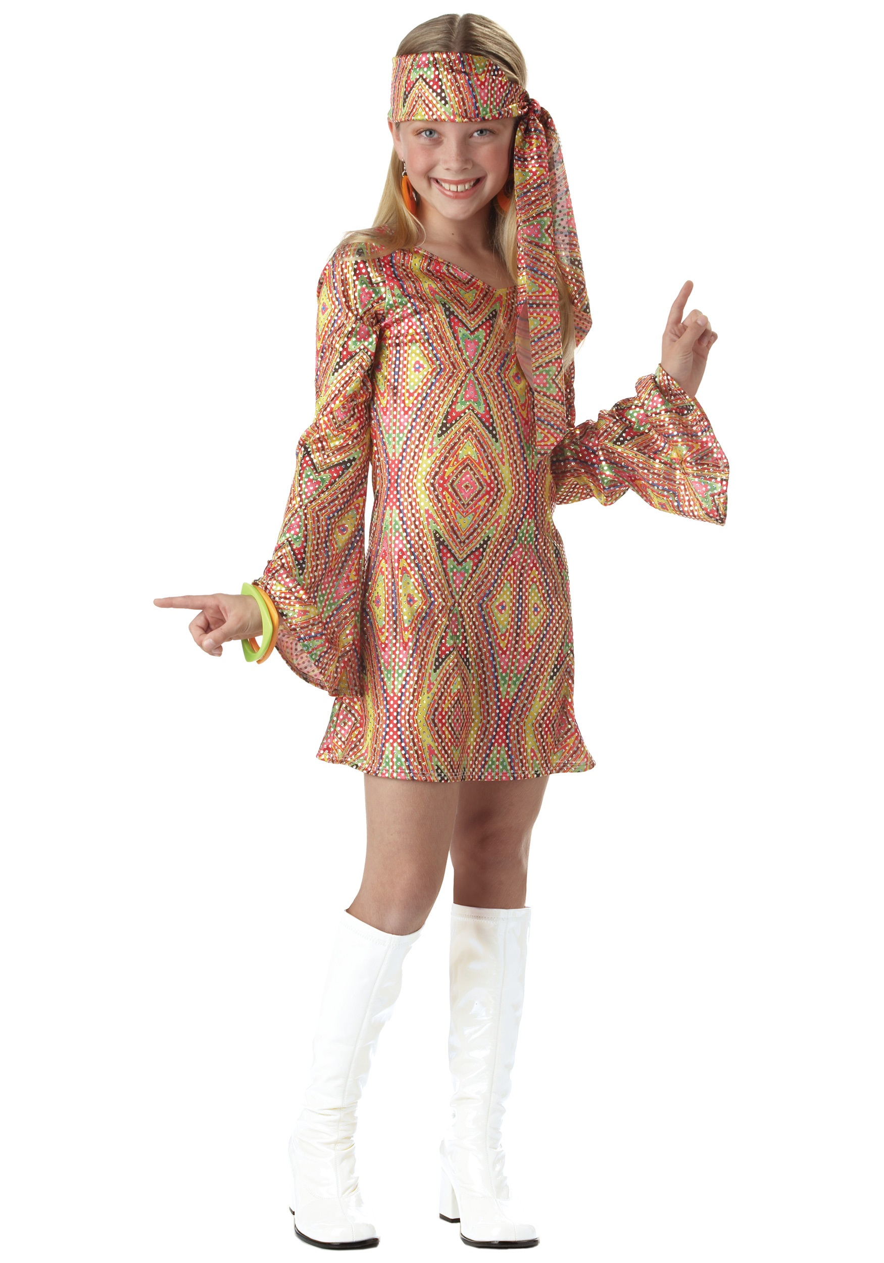Girls Disco Costume  sc 1 st  Halloween Costume & Girls Disco Costume - Kids 70s Disco Halloween Costumes