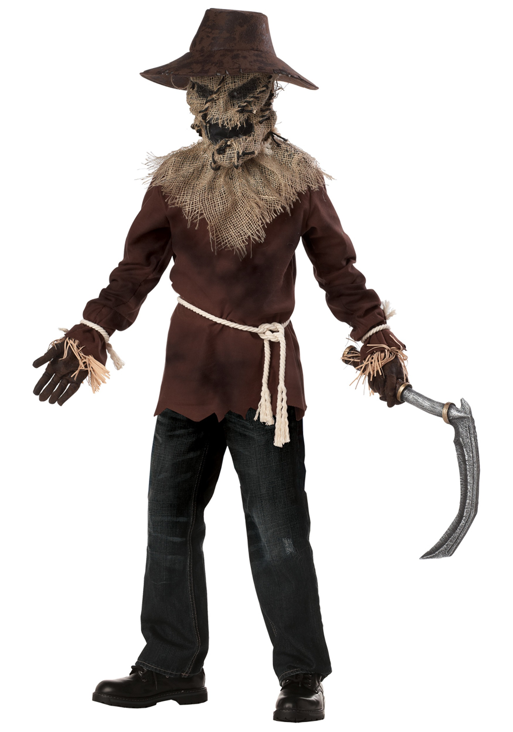 boys' sinister scarecrow costume - kids' scary halloween costumes