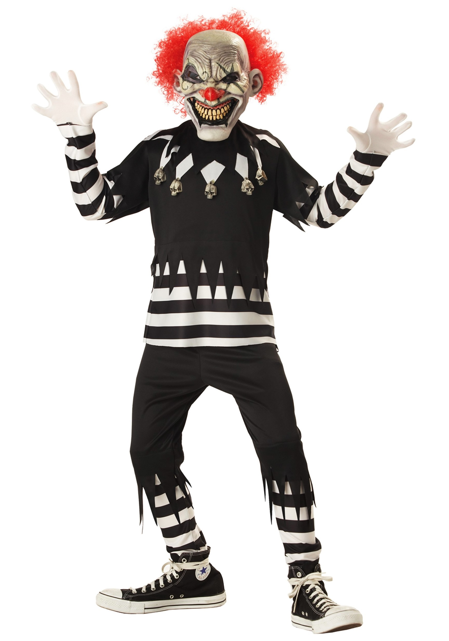 Kids Scary Clown Costume  sc 1 st  Halloween Costume & Kids Scary Clown Costume - Child Clown Costumes