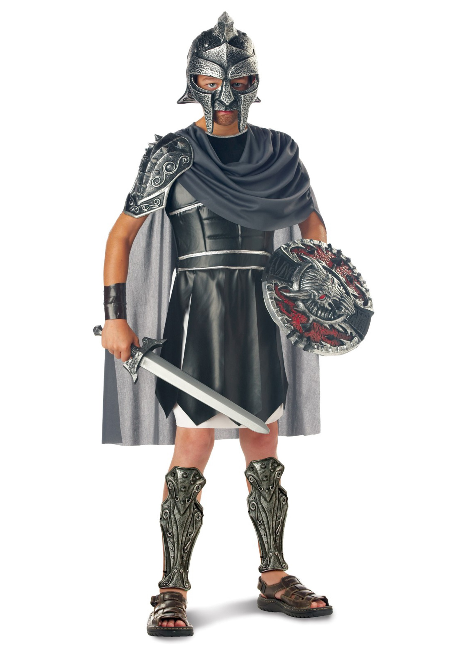 Child Gladiator Costume  sc 1 st  Halloween Costume & Child Gladiator Costume - Kids Roman Warrior Costumes for Halloween