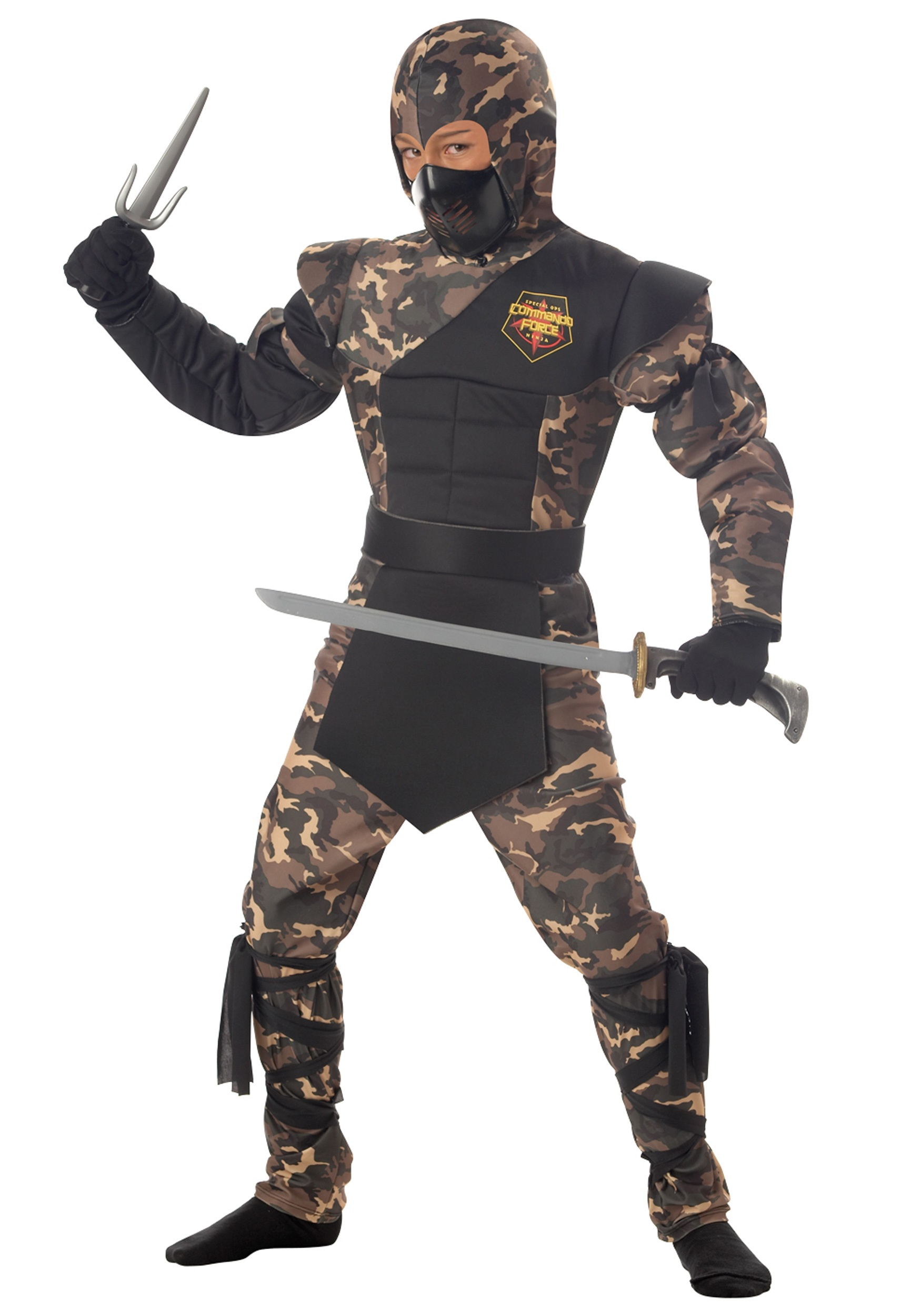Kids Camouflage Ninja Costume  sc 1 st  Halloween Costume & Kids Camouflage Ninja Costume - Boys Ninja Halloween Costumes