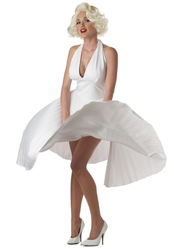 Deluxe Marilyn Monroe White Halter Dress