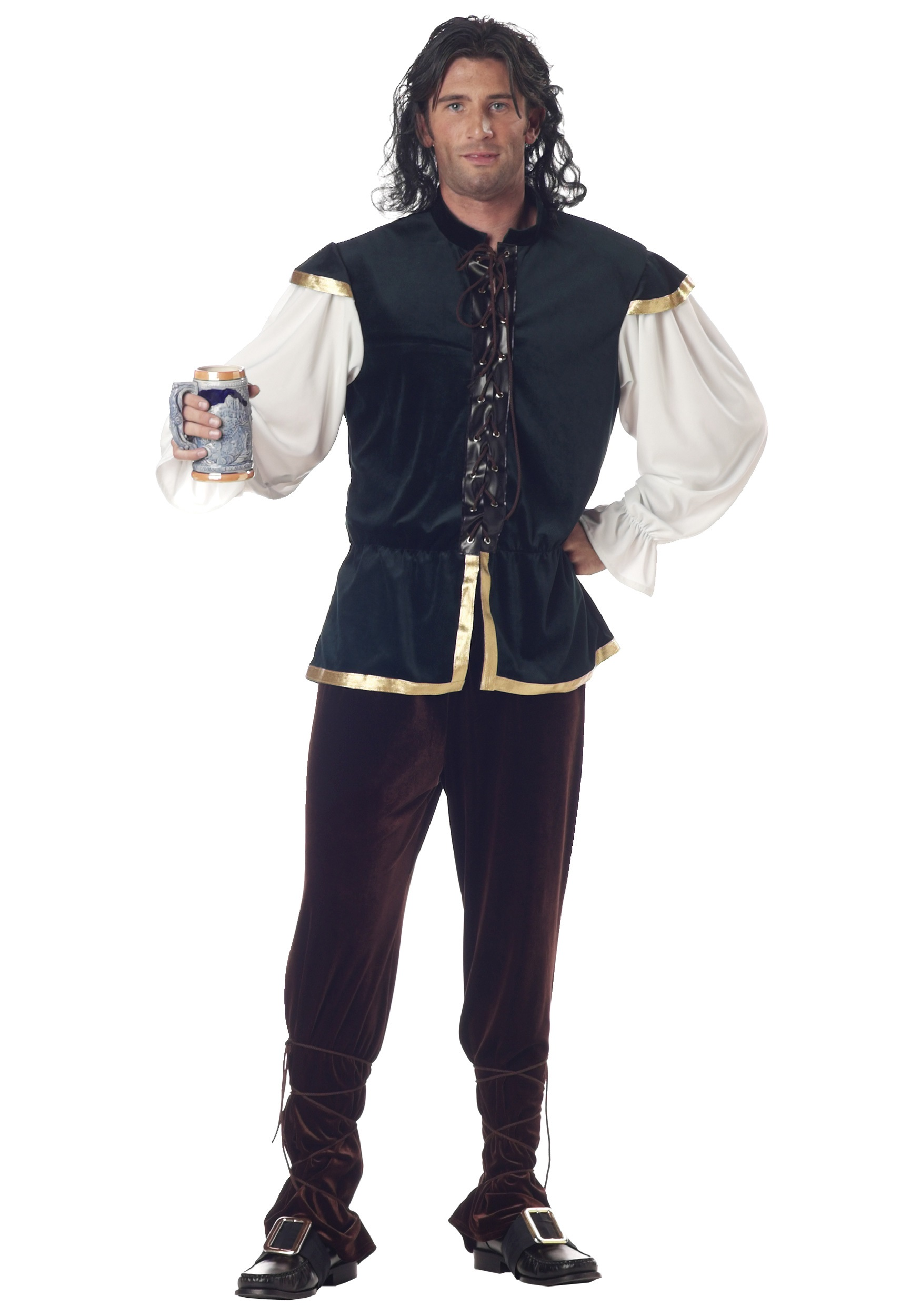 Couples Ladies AND Mens Medieval Inn Keeper History Fancy Dress Costumes Outfits