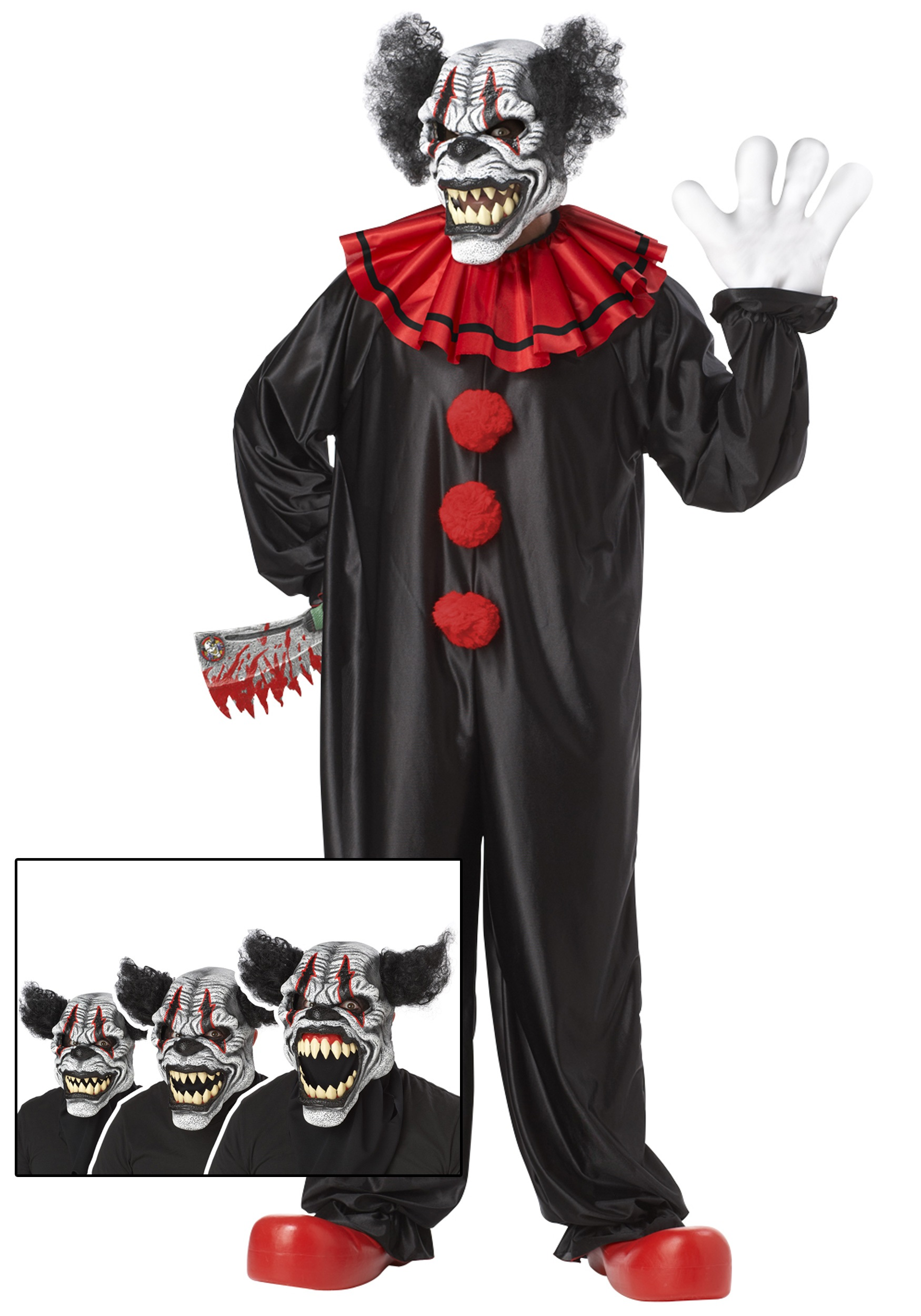 Evil Laughing Clown Costume Scary Adult Halloween Costume Ideas