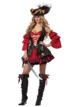 Plus Spanish Scarlet Pirate Costume