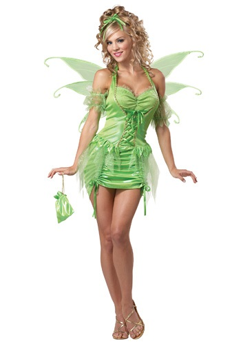 Womens Green Tinkerbell Costume