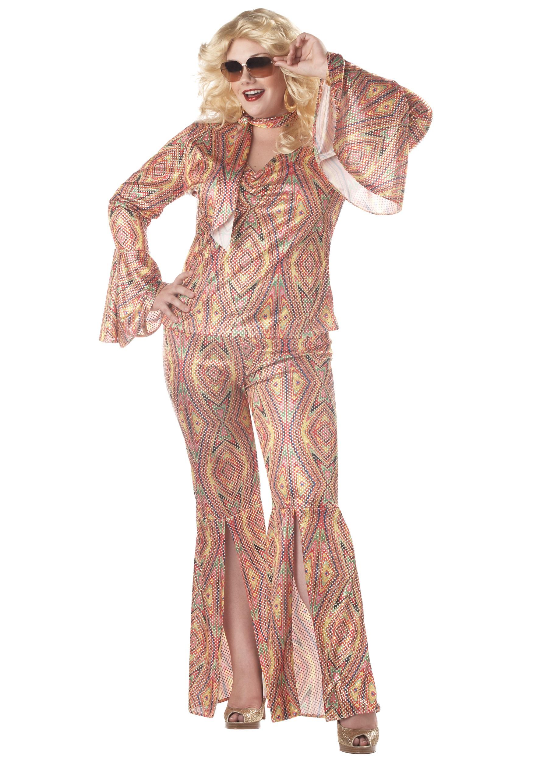 Plus Size DiscoLicious Costume  sc 1 st  Halloween Costume & Plus Size DiscoLicious Costume - Womens 70s Disco Plus Size Costumes