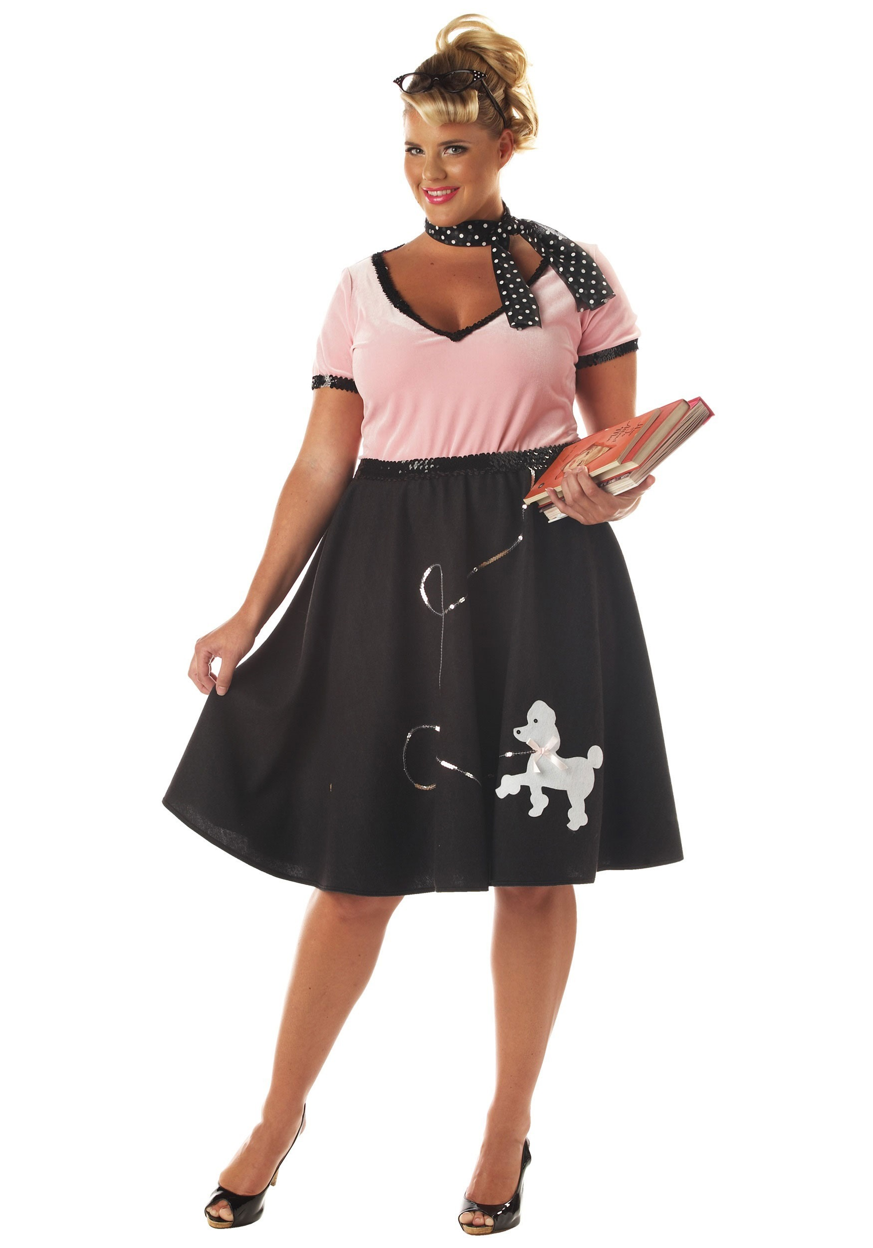 Ladies Plus Sock Hop Costume  sc 1 st  Halloween Costume & Ladies Plus Sock Hop Costume - Plus Size 1950s Costumes