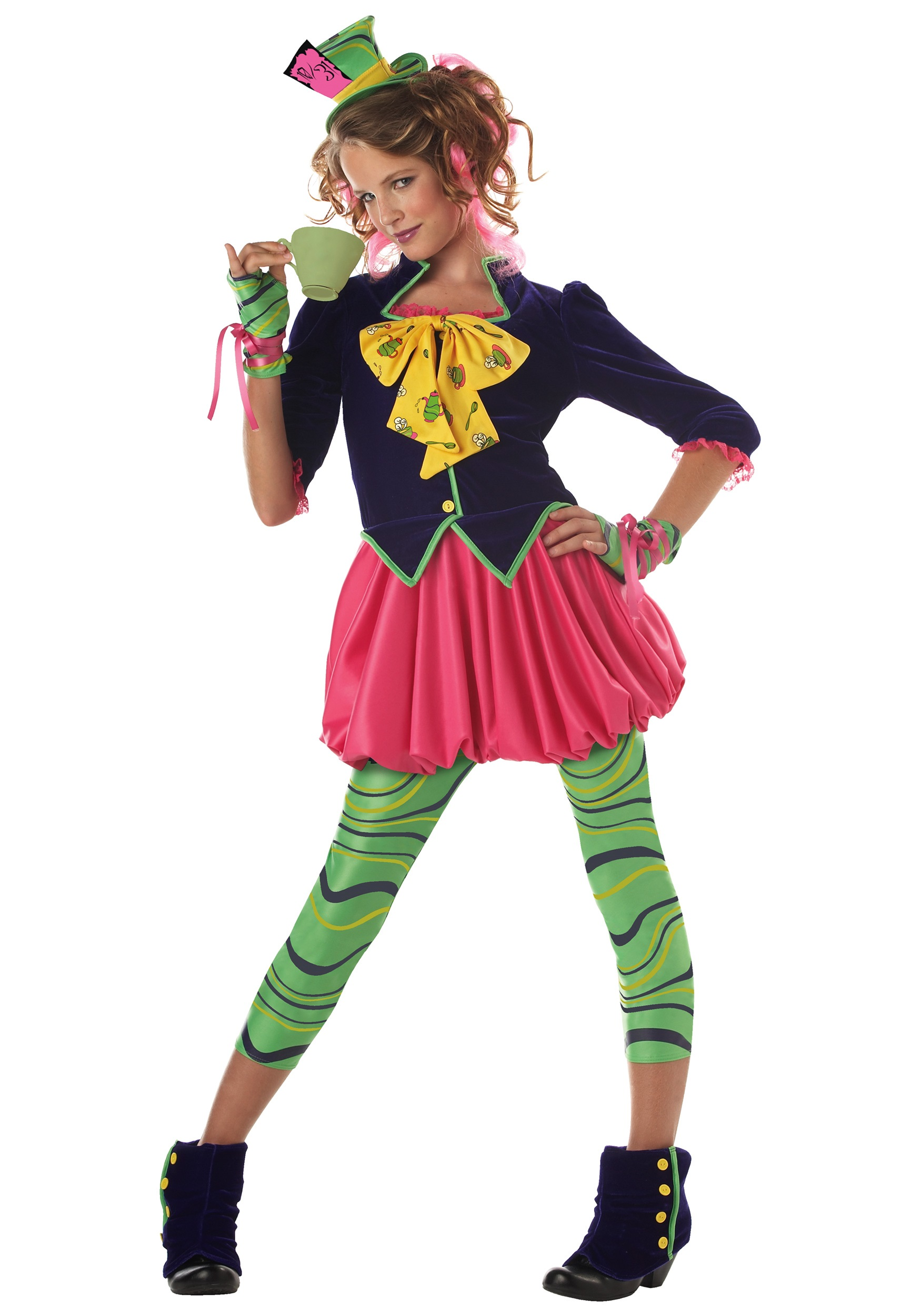 Tween Miss Hatter Girls Costume  sc 1 st  Halloween Costume & Tween Miss Hatter Girls Costume - Mad Hatter Wonderland Child Costumes
