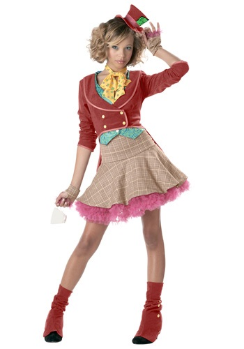 Tween Girls Mad Hatter Costume