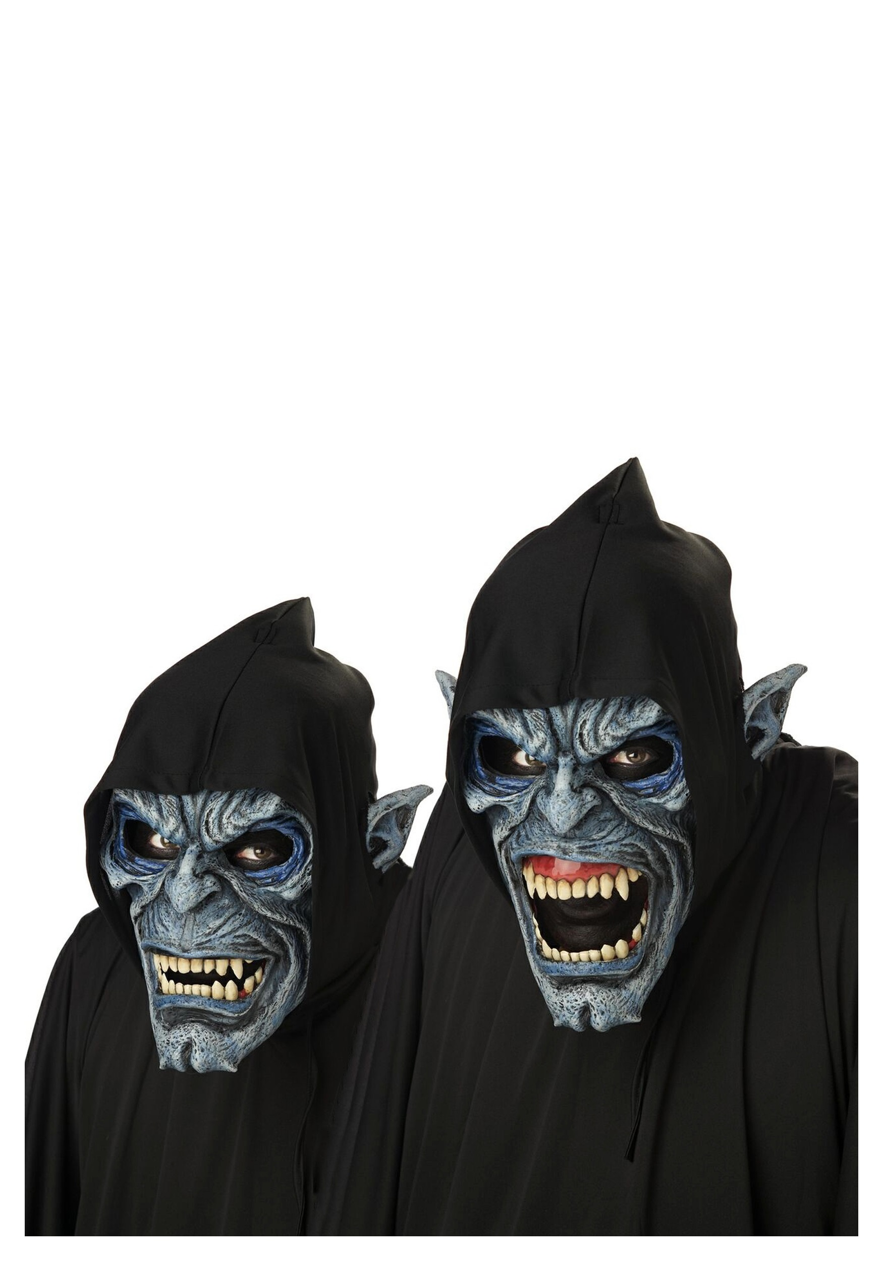 Realistic Scary Halloween Masks.Night Fiend Costume Mask
