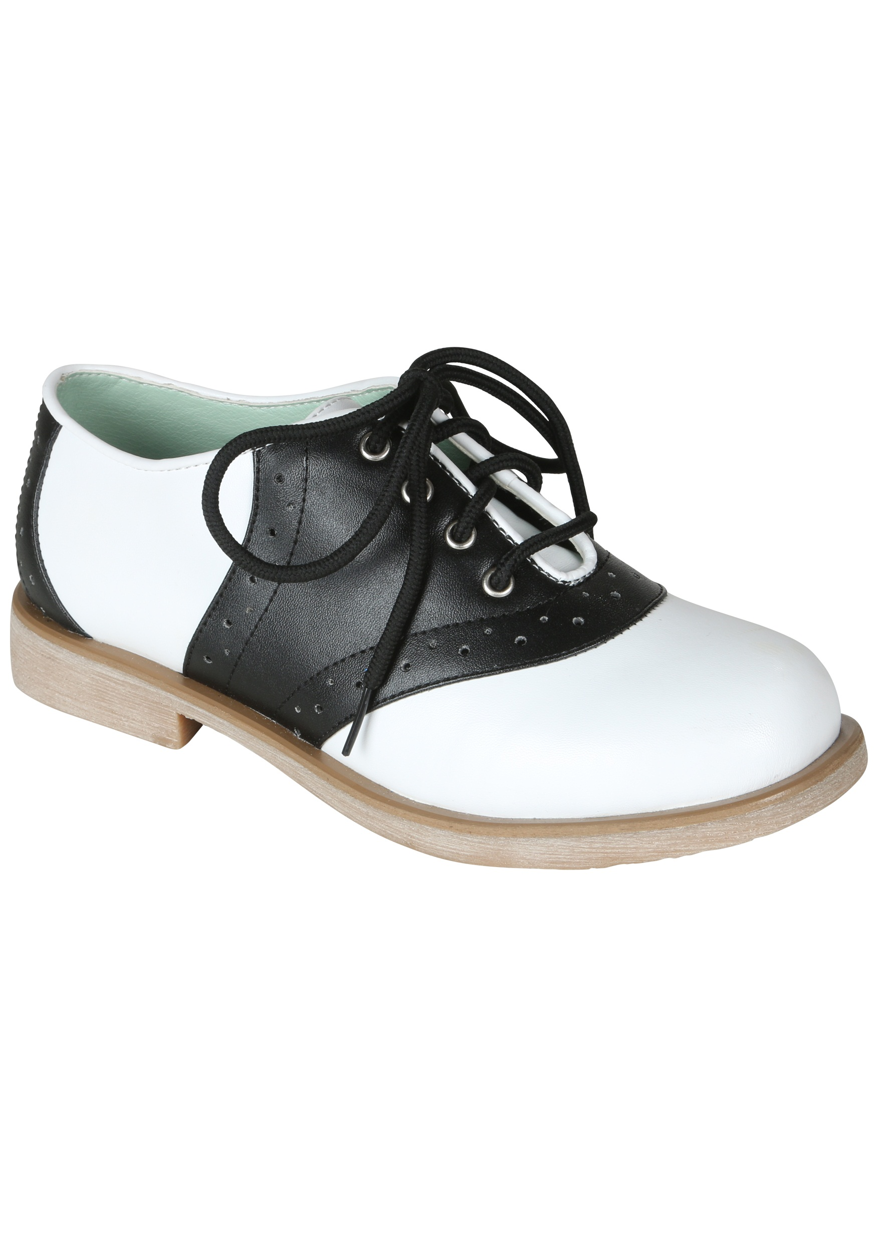 Womens Adult Saddle Shoes 50s Halloween Costume Accessories