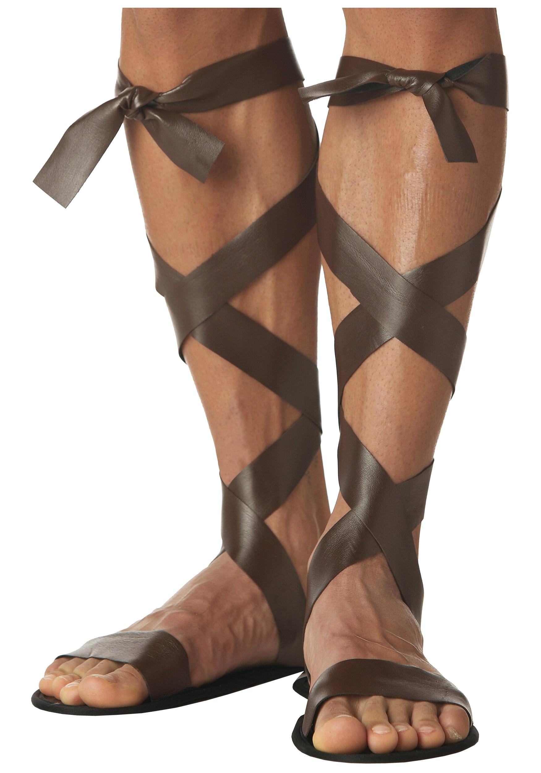 Ancient Warrior Sandals Roman Soldier Costume Accessories